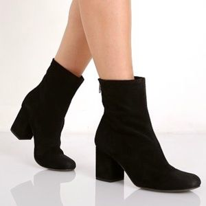 Free People Black Ankle Boots